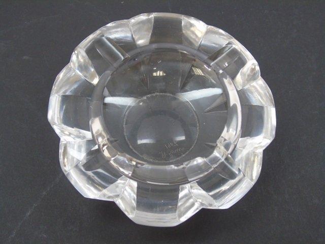 Vintage Saint Louis Cut Crystal Ash Tray - 2
