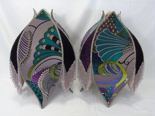 Pair Custom Made Contemporary Lamp Shades
