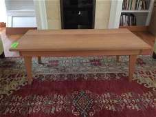 Custom Contemporary Oak Wood Coffee Table