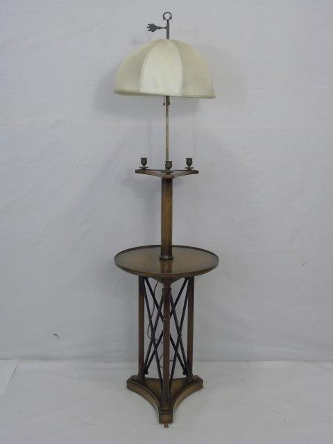 Neo Classical Style Floor Lamp w/ Table Surface