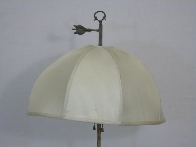 Neo Classical Style Floor Lamp w/ Table Surface - 2