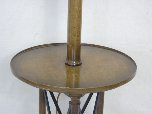 Neo Classical Style Floor Lamp w/ Table Surface - 4