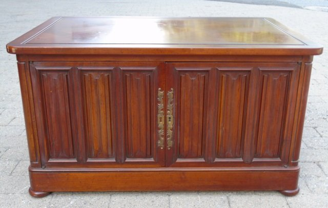Mid Century Paneled Door Front Console Cabinet
