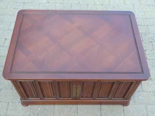 Mid Century Paneled Door Front Console Cabinet - 2