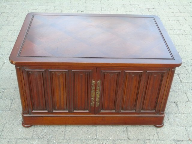 Mid Century Paneled Door Front Console Cabinet - 6