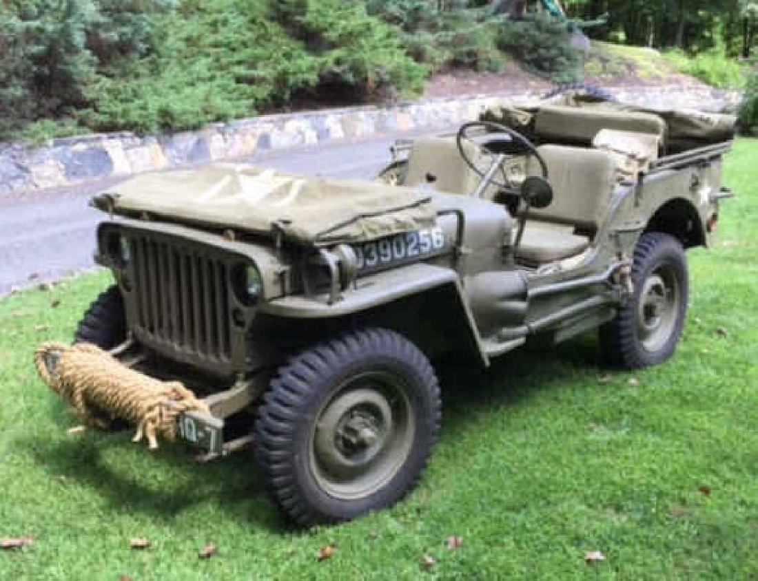 Antique WWII C 1943 Ford GPW Army Jeep Truck