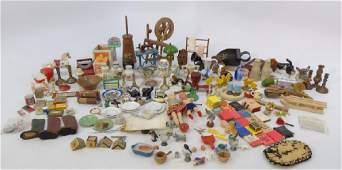 Large Group Antique & Vintage Dollhouse Miniatures
