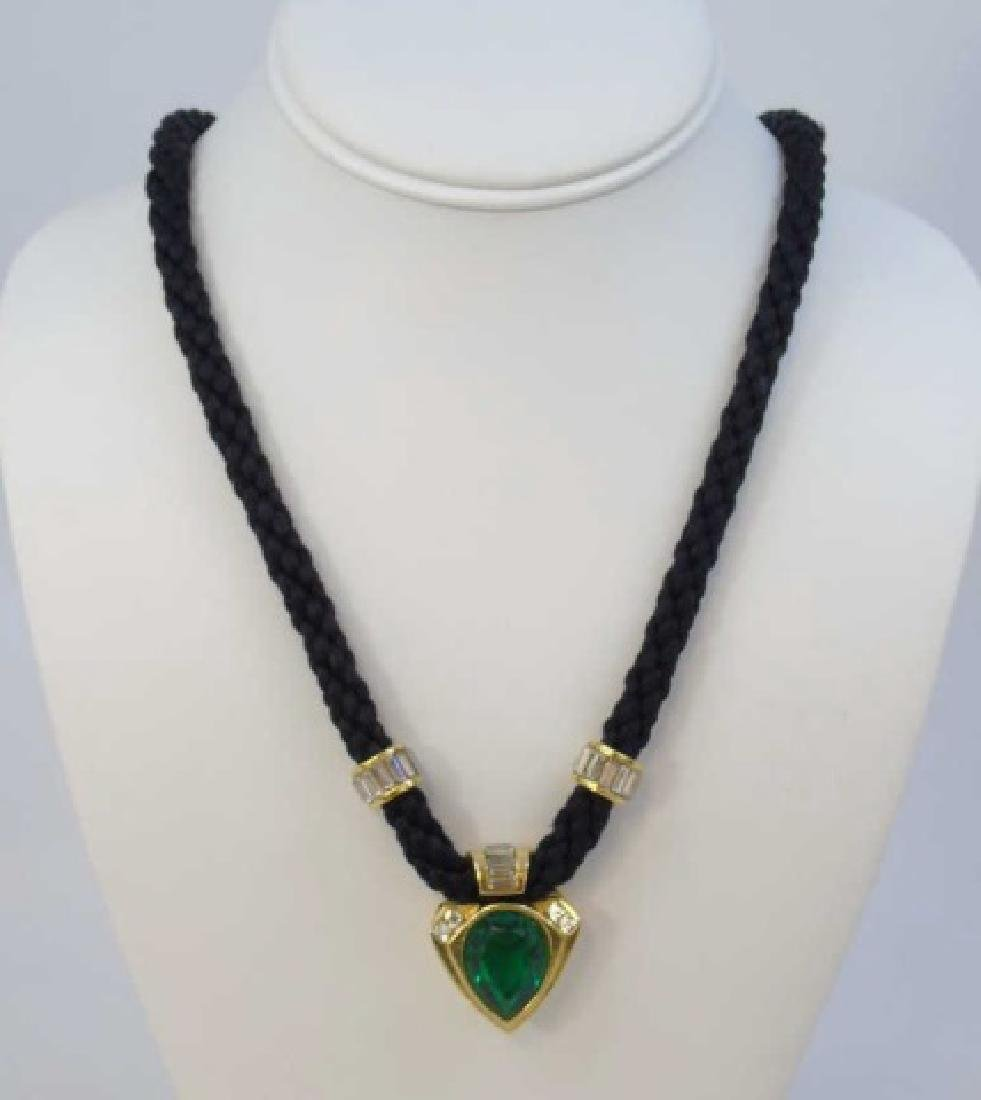 Rush Kramer/Angela Kramer Cloth Cord Necklace
