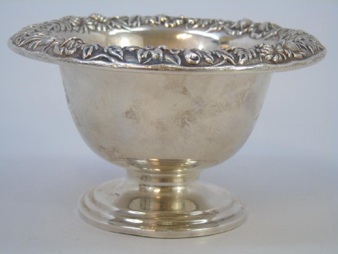 Antique Sterling S Kirk & Sons Repousse Compote