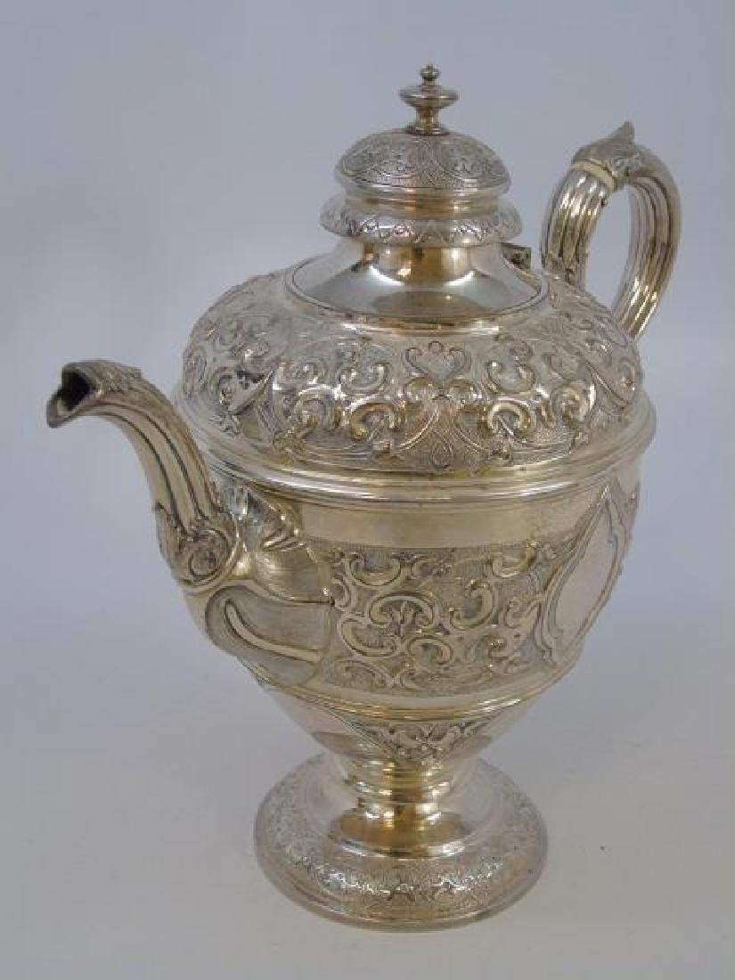 Large Antique Continental Silver Coffee Pot