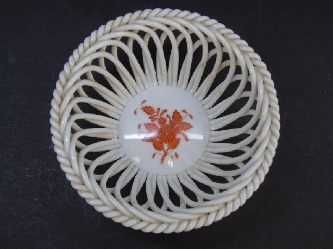 Herend of Hungary Chinese Bouquet Reticulated Bowl