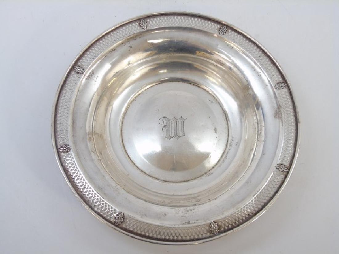 Antique Reticulated Sterling Silver Serving Bowl