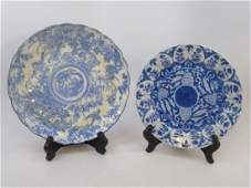 Two Antique Hand Painted Chinese Porcelain Plates