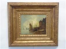 Hendrik van Dongen Oil on Canvas Schooners