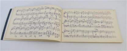Antique 19th C German Music Composition Book