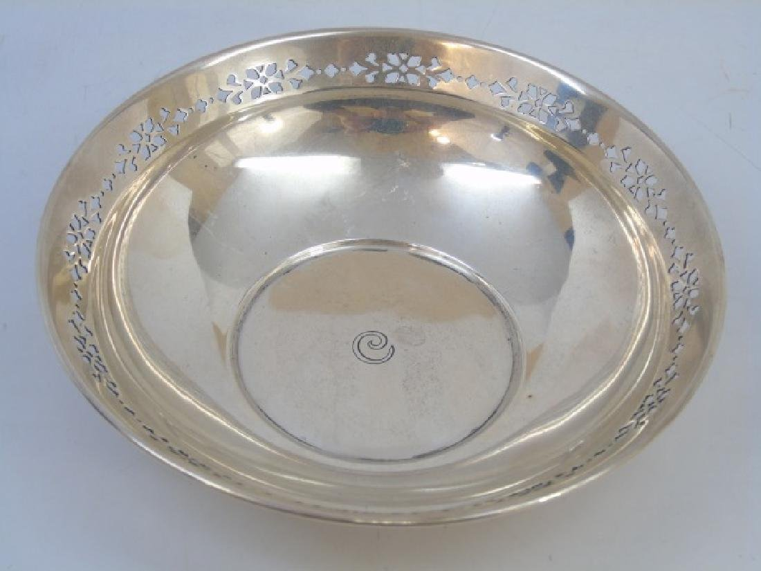 Tiffany & Co Sterling Silver Reticulated Edge Bowl