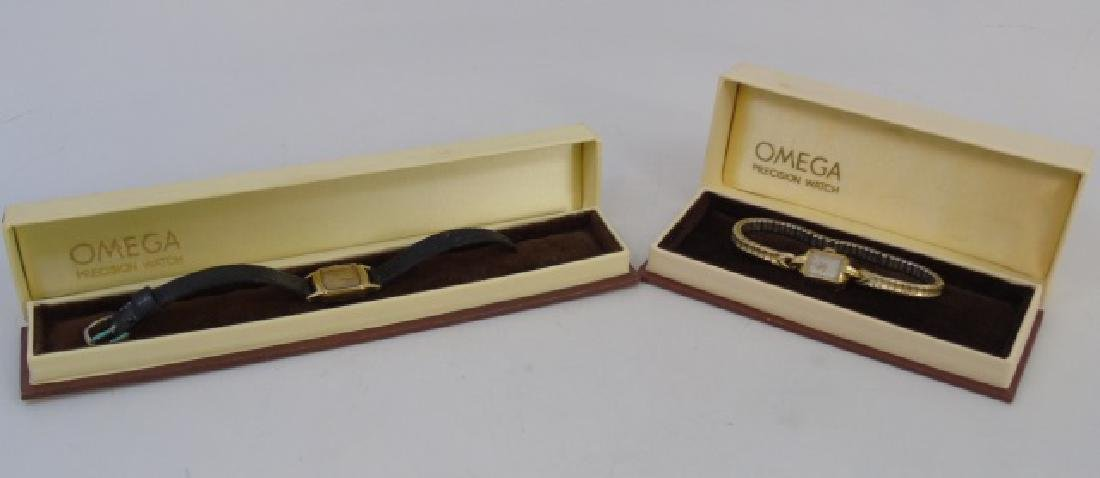 2 Estate Omega Yellow Gold Art Deco Watches