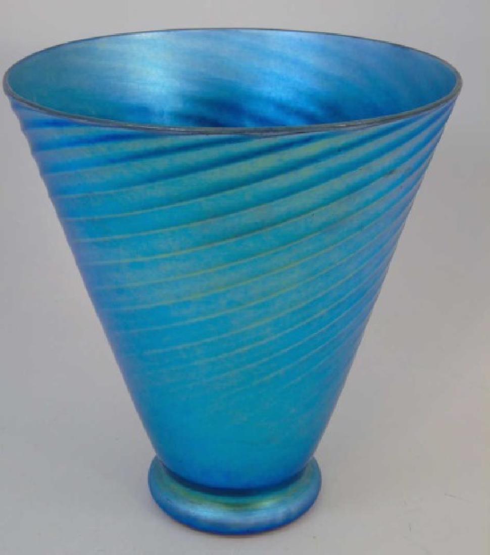 Antique Art Glass Steuben Aurene Vase