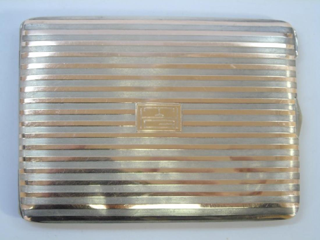 Cartier Sterling Silver & 14kt Gold Box Orig Pouch