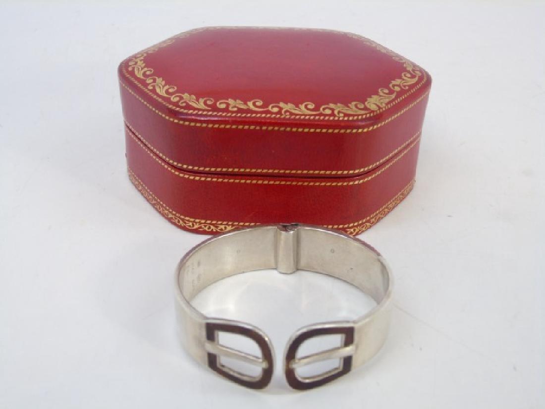 Gucci Sterling Silver - Enamel Bracelet, Orig Case