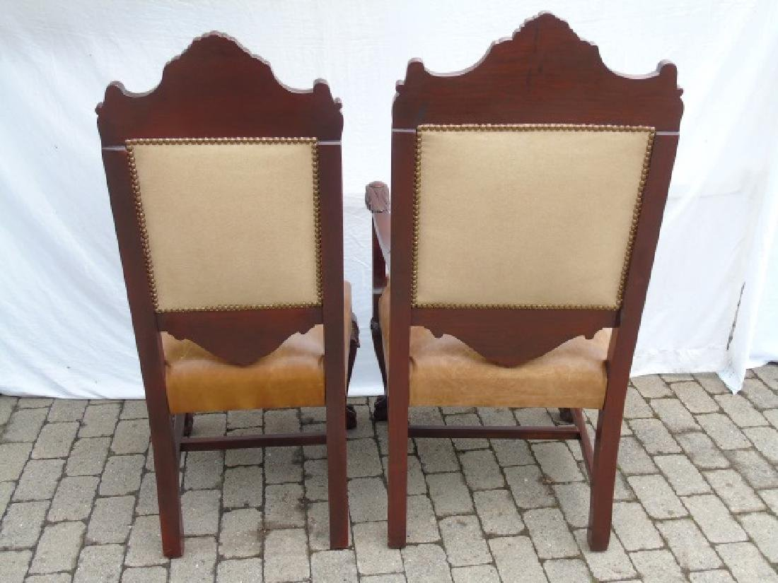 Set 12 Ornately Carved Italian Dining Room Chairs - 3