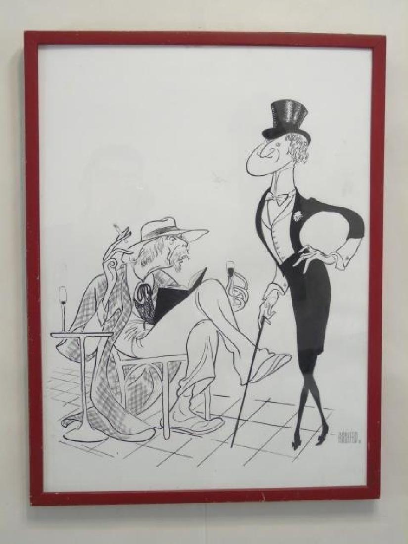 Al Hirschfeld (1903-2003) Signed Original Drawing