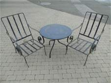 Collection of Three Outdoor Furniture Pieces