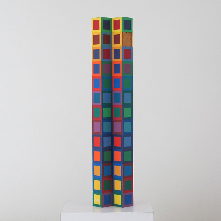 Victor Vasarely Signed LARGE Sculpture