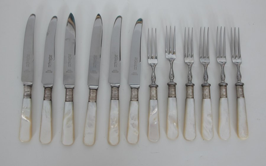 Pearl Handle Knives & Forks