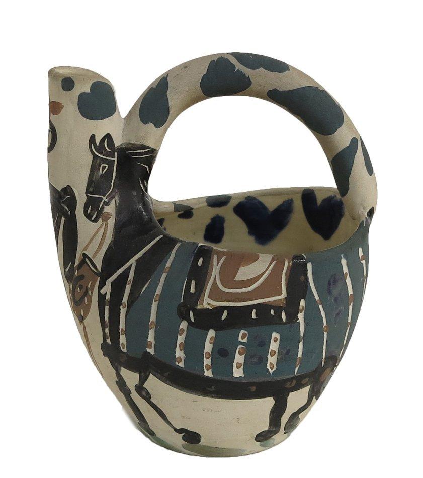 Pablo Picasso Madoura Cavelier et Cheval ceramic vesel