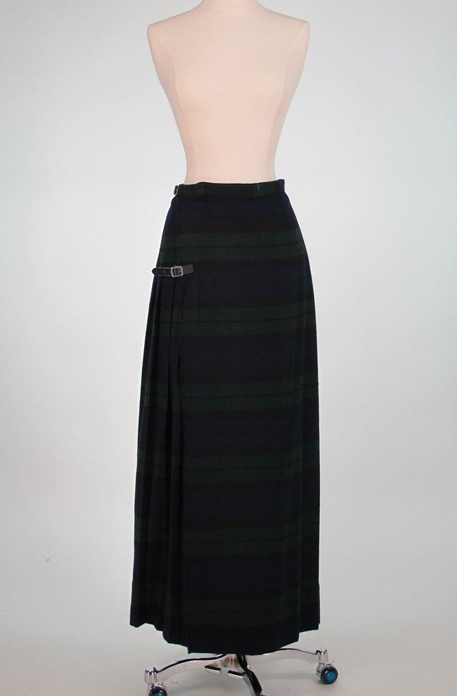 Black Watch or Campbell Wool Plaid Full Length Kilt