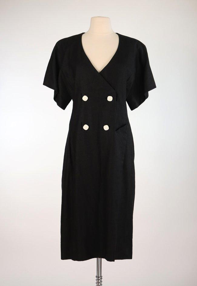 Jacqueline de Ribes Back Linen Dress