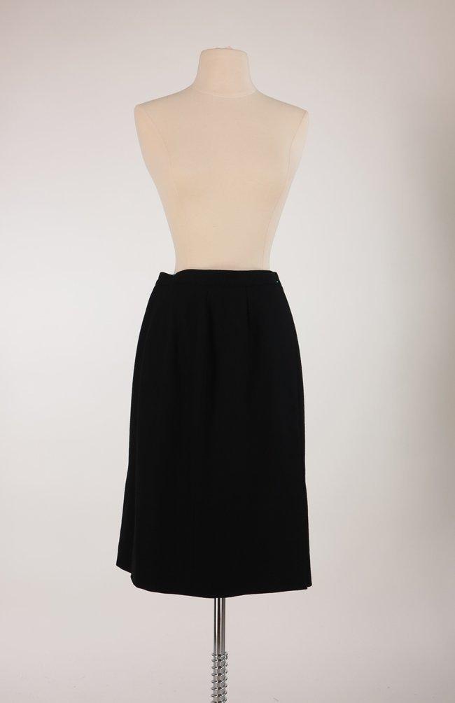 Roberta di Camerino Black Wool Skirt