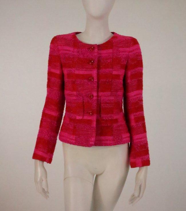 Chanel Orange and Pink Tweed Jacket