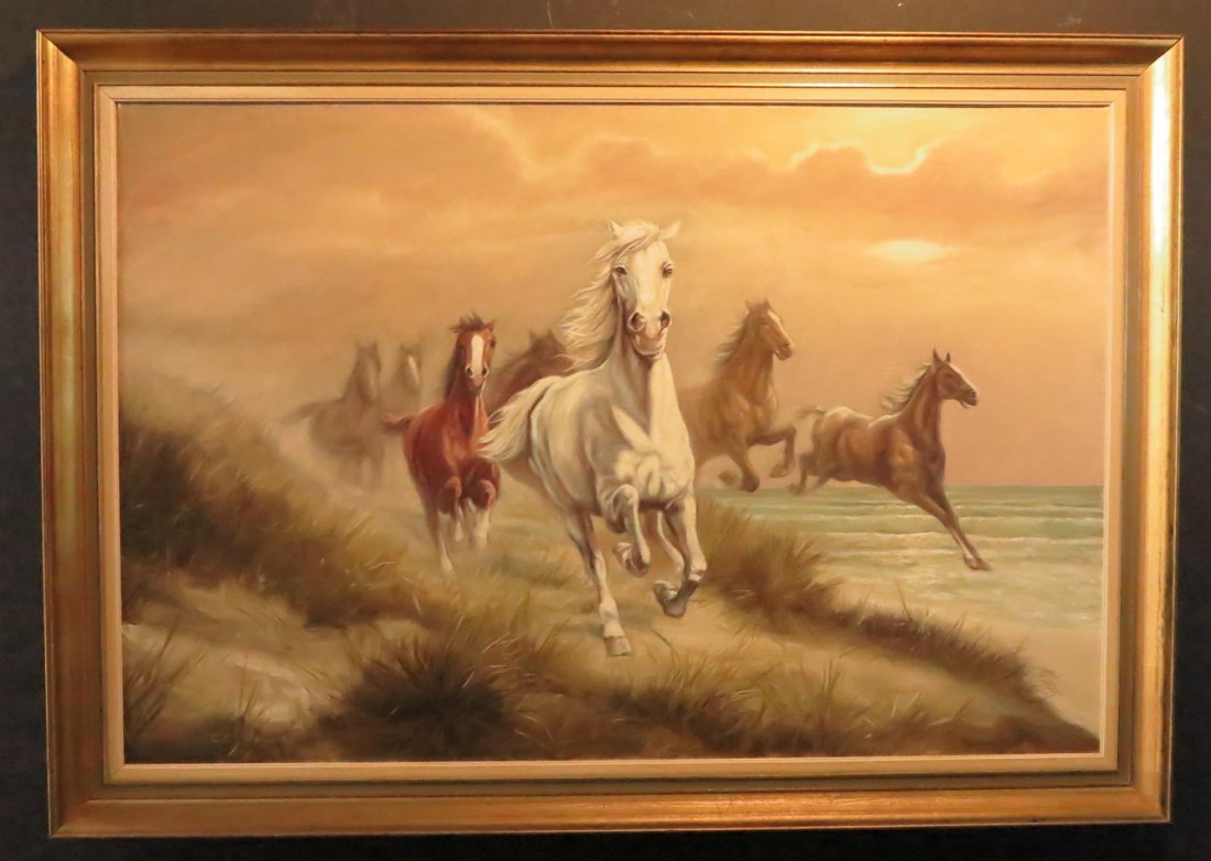 Galloping Horse Painting by Ewald Honnef