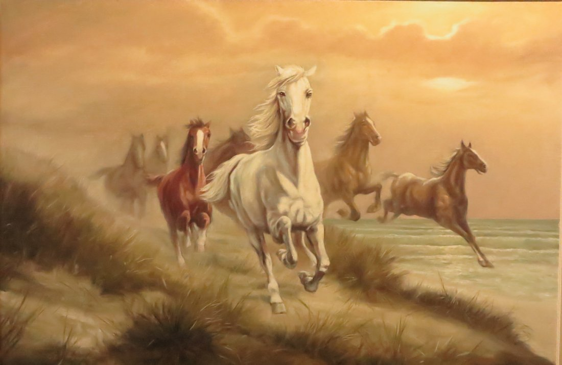 Galloping Horse Painting by Ewald Honnef - 2