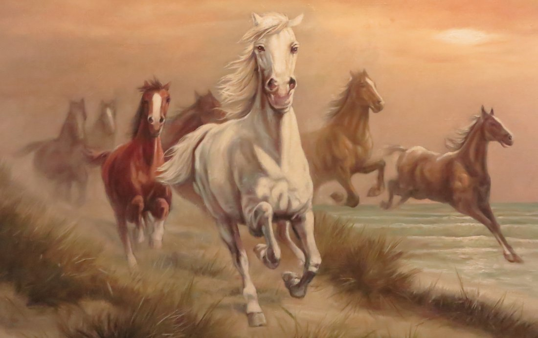 Galloping Horse Painting by Ewald Honnef - 3