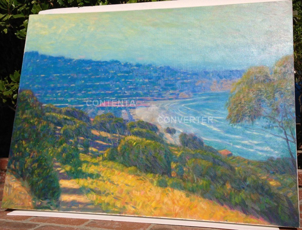 original oil by listed artist Robert goldman,