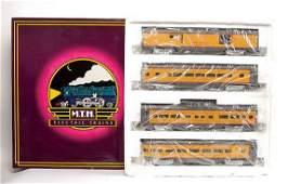 3770 Rail King MTH O Gauge UP Streamlined Coach Set