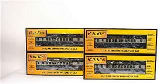 3771 Rail King MTH O Gauge BO 4 x Bogie Coaches