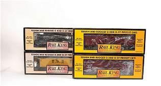 3774 Rail King MTH O Gauge 4 x Bogie Freight Cars