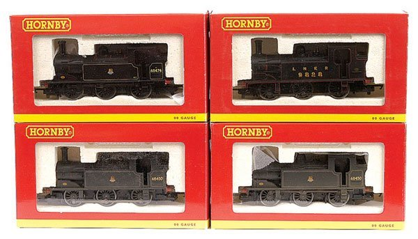 3019: Hornby - A Group of 0-6-0 Black Tank Locos