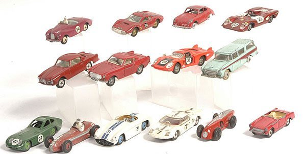 2: Dinky - a group of 14 Sports Cars.