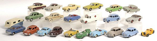 9: Dinky a group of repainted Cars
