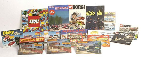 23: Spot-on, Corgi, Matchbox, Dinky Catalogues