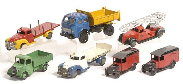 24: Tekno and Dinky Trucks.