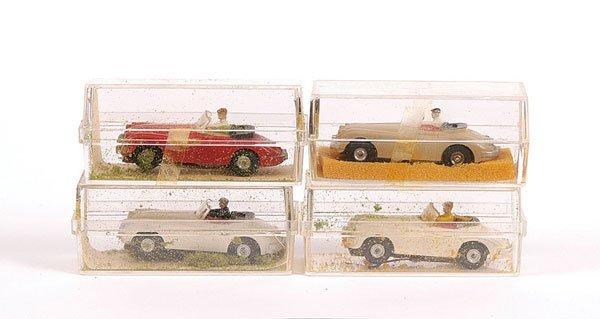 2010: Aurora HO Slot Cars, 4 x No.1541 Jaguar XK140