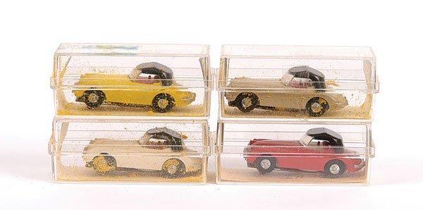 2011: Aurora HO Slot Cars, 4 x No.1545 Jaguar XK140