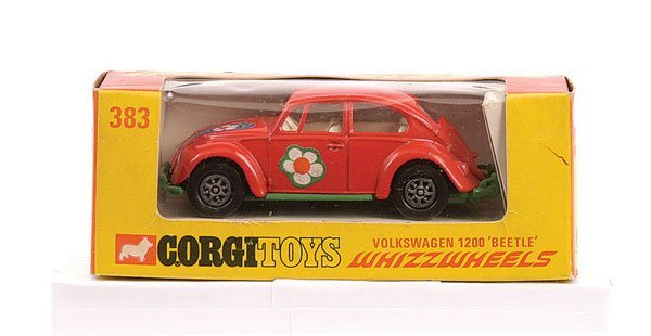 "2636: Corgi No.383 VW Beetle ""Flower Power"""