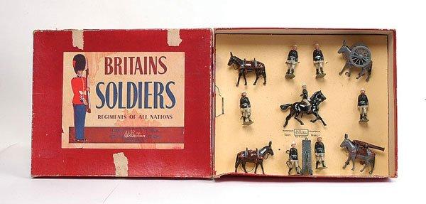 3012: Britains - Set 28 - Mountain Artillery - 1956